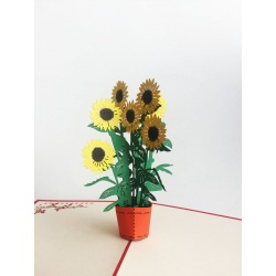 Sunflowers Pot